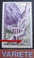 R1718/32 - 1960 - GORGES De KERRATA (ALGERIE) - N°1237c NEUF** - VARIETE ➤➤➤ Chiffres Blancs - Curiosities: 1960-69 Mint/hinged