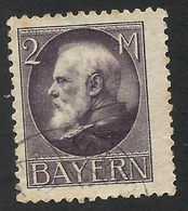 Bavaria, 2 M. 1914, Sc # 110, Mi # 105, Used. - Bavaria