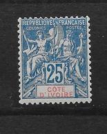 COTE D'IVOIRE TYPE GROUPE N° 16 NEUF * - COTE = 45.00 € - Ivory Coast (1892-1944)
