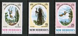 NEW HEBRIDES  Scott # 135-7** VF MINT NH (Stamp Scan # 425) - English Legend