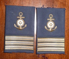 Primo Maresciallo INFERMIERE - SANITARIO - MARINA  MILITARE ITALIANA - GRADI TUBOLARI - Come Nuovi - Italian Navy CPO - Navy