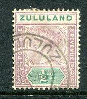 Zululand - South Africa - 1894-96 QV - Keytypes - ½d Mauve & Green Used (SG 20) - Zululand (1888-1902)