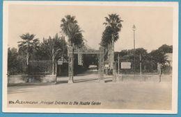 ALEXANDRIE - ALEXANDRIA - Principal Entrance To The Nouzha Garden - Entrée Principale Du Jardin Nouzha - Alexandria