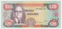 JAMAICA 20 DOLLARS 1989 VF+ Pick 72 - Jamaica