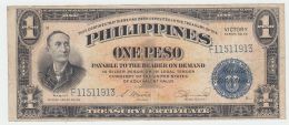 Philippines 1 Peso 1944 AVF Victory Over Japan WW 2 - Series B Pick 94 - Filipinas