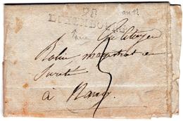 Lettre 1802 Luxembourg 21 Frimaire An 11 Premier Empire Départements Conquis Nancy - Marcophilie (Lettres)