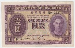 Hong Kong 1 Dollar 1936 VF+ Pick 312 - Hong Kong