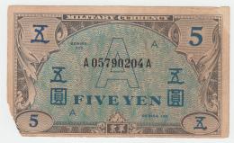JAPAN 5 YEN 1946 G+ Pick 68 - Japon