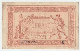 FRANCE 1 FRANC TRESORERIE AUX ARMEES 1917 AVF Pick M2 - Treasury