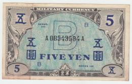 JAPAN 5 YEN 1945 VF++ P 69a 69 A - Japan