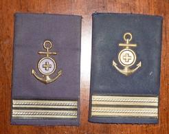 CAPO 1^ CLASSE INFERMIERE - SANITARIO - MARINA  MILITARE ITALIANA - GRADI TUBOLARI - USATI - Italian Navy CPO - Navy