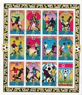 DPR Korea 1978 Sc. 1698/1709 Calcio Soccer History Of World Cup Sheet Perf. CTO  FIFA - Korea, North
