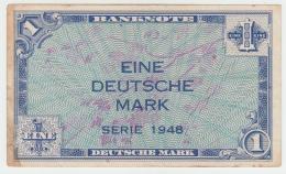 Germany 1 Deutsche Mark 1948 VF Pick 2a - [ 5] 1945-1949 : Bezetting Door De Geallieerden