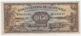 Guatemala 1/2 Quetzal 1946 VF Pick 19a  19 A - Guatemala
