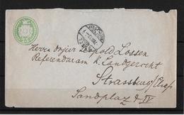 1873 TÜBLI-BRIEF → 25er Tüblibrief Von BASEL Nach STRASSBURG - Enteros Postales