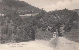 Cp , 74 , ABONDANCE , Environs , Vallée De La DRANSE, La Route En Tunnel - Abondance