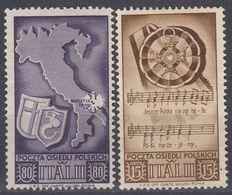 CORPO POLACCO IN ITALIA - 1945 - Lotto 2 Valori Nuovi Senza Gomma: Unificato 18 E 22. - Emissioni Locali/autonome