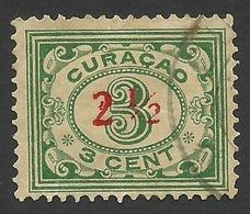 Curacao,  2 1/2 C. On 3 C. 1931, Sc # 107, Used. - Curaçao, Antille Olandesi, Aruba