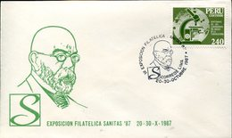 39176 Marti,  Peru,  Fdc 1987,  Dr. Robert Koch,  Nobel Prize  Prix Nobel Tubercolosis - Medicina