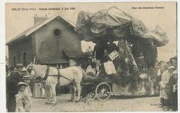 Celtes Celtique Bretons Char Des Chanteurs Bretons Dans Un Dolmen à Nolay Cavalcade 8/6/1908 Journal Botrel Voyagé - Europe