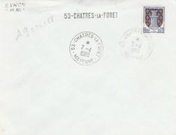 Poste Automobile Rurale : Griffe Linéaire : Evron CPN 1 - 53-Chartres-la-Foret - Postmark Collection (Covers)
