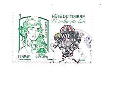 Fête Du Timbre Le Timbre Fête L'air 4809 Oblitéré 2013 - France