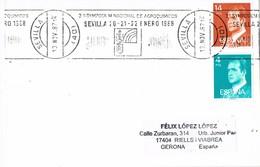 30224. Tarjeta SEVILLA 1988. Rodillo Simposium Agro Quimicos - 1931-Hoy: 2ª República - ... Juan Carlos I