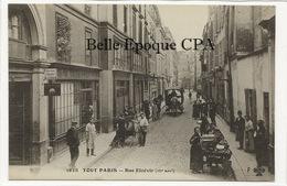 75 - TOUT PARIS ( Noir ) 03 - #1828 - Rue Elzévir ++++ Coll. F. FLEURY ++++ RARE / Bouquetière / Marchande De Fleurs - District 03