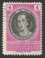 4 C., 1956, Scott # 554, Used. - Cuba