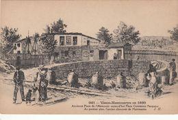 Cp , 75 , PARIS , Vieux-Montmartre En 1860, Ancienne Place De L'Abreuvoir - France