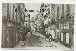75 - TOUT PARIS ( Noir ) 04 - #1832 - Rue Saint-Paul ++++ Coll. F. FLEURY ++++ Parfait état - District 04