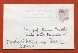 PRINCIPATO DI MONACO CARTE POSTALE  REPONSE 10 C.  DEL 10/4/1899 - Monaco