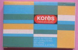 KORES - BOITE 24 BATONNETS POUR NETTOYER CARACTERES MACHINE A ECRIRE - 2 SCANS - Autres
