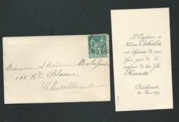 Faire Part De La Naissance De Henriette Cathalot à Chatellerault Le 30/03/1899    AH28605 - Nacimiento & Bautizo