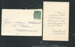 Faire Part De La Naissance De René Bessereau  Le 23/04/1898 à Chatellerault   AH28606 - Nacimiento & Bautizo