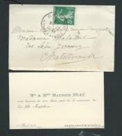 Faire Part De La Naissance De Magdeleine Neau à Saint Jean D'Angély Le 1/04/1914  AH28608 - Nacimiento & Bautizo