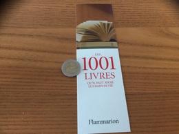 Marque-page «LES 1001 LIVRES - éditions Flammarion» 2007 - Marque-Pages