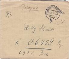 German Feldpost WW2: To Romilly-sur-Seine (France) - Fliegerhorst-Kommandantur A 210/XII FP 06459 Flg. LGPA Paris P/m Vi - Militaria