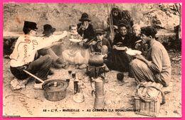 Cpa - Marseille - Au Cabanon - La Bouillabaisse - Animée - L.P. - 1906 - Oblit. Perlée CàD LARUSCADE ( 33 ) - Old Professions