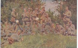 Gemäldekarte - Sign. Paul Röchingl- Rast  - Wohlfahrtskarte V General Falkenhain Für Deutsche Waisenkinder - AK 11.169 - Weltkrieg 1914-18
