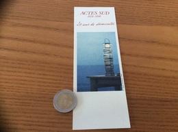 Marque-page « ACTES SUD1978-1998 20 Ans De Découvertes » (phare) - Marque-Pages