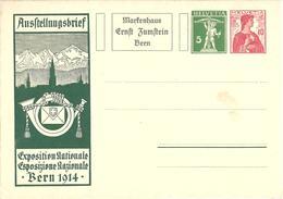 SUISSE SCHWEIZ Enveloppe Lettre Exposition Berne 1914 - Interi Postali