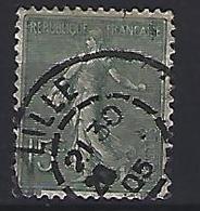 France 1903  Semeuse (o) Yvert 130 - 1903-60 Säerin, Untergrund Schraffiert