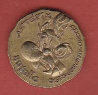 54568-Jeton.piece.BD.AsterixNutella.1995 Goscinny Uderzo.Caesar.dict Perpetuo... - Books, Magazines, Comics