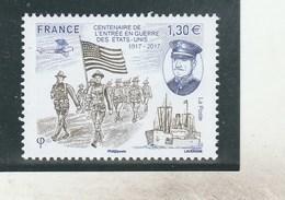 FRANCE 2017 CENTENAIRE GUERRE ETATS UNIS NEUF YT 5156 - - Unused Stamps