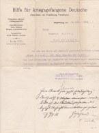 Letter WW1 From Hilfe Für Kriegsgefangene Deutsche In Magdeburg Signed 8.7.1916 Req Further Info About German MIA Missin - Militaria