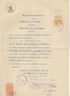 Ventotene . 1937. Marca Minicipale Diritti Di Segreteria C. 50 , Su Certificato Di Cittadinanza - Andere
