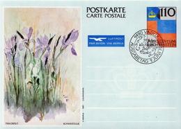 Liechtenstein 3 Cancelled Postal Stationery Cards - Stamped Stationery