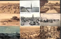 Lot 13 Cartes Blankenberge (animée, Barque De Pêche, VPF, Port, Colorisée, Tennis...) - Blankenberge