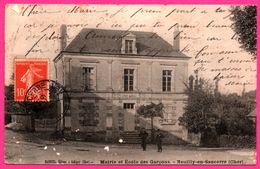 Neuilly En Sancerre - Mairie Et Ecole Des Garçons - Animée - Edit. BACOUEL - 1910 - France